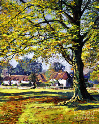English Village Art Print by David Lloyd Glover
