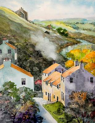 Painting - English Village by Robert W Cook