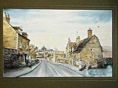Painting - English Village Scene. by SJV Jeffery-Swailes