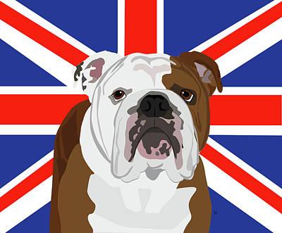 Digital Art - English Bulldog by Kristin Bowen