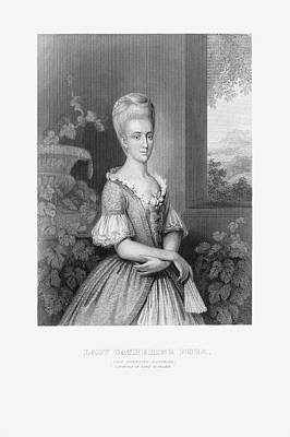 Catherine White Drawing - Engraved Portrait Of Lady Catherine Duer, Circa 1780 by Craig McCausland
