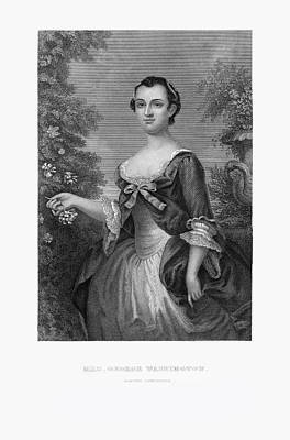 Engraved Portrait Of Mrs. George Washington, Martha Dandridge, Circa 1780 Art Print by Craig McCausland