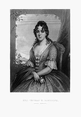 Engraved Portrait Of Mrs. Thomas Randolph, Martha Jefferson, Circa 1780 Art Print