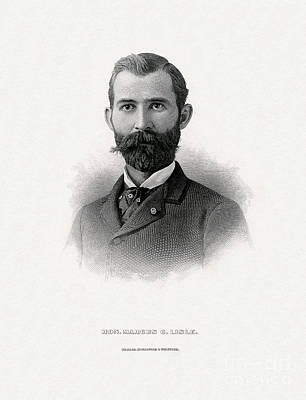 Painting - Engraved Portrait Of Rep. Marcus C. Lisle by Celestial Images