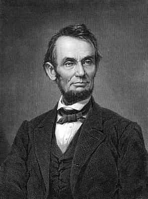 Photograph - Engraving Of Portrait Of Abraham Lincoln From Brady Photograph by Phil Cardamone