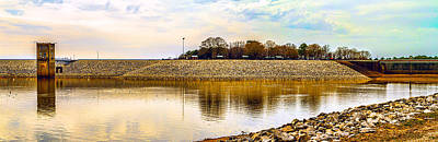 Photograph - Enid Dam And Lake Panorama by Barry Jones