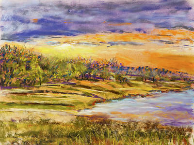 Painting - Enid Shore Sunrise by Barry Jones