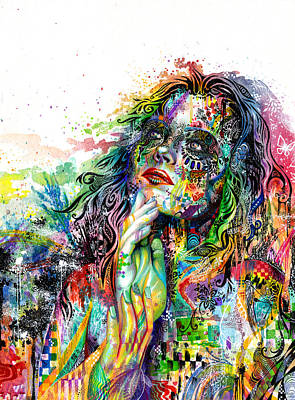 Girl Wall Art - Painting - Enigma by Callie Fink