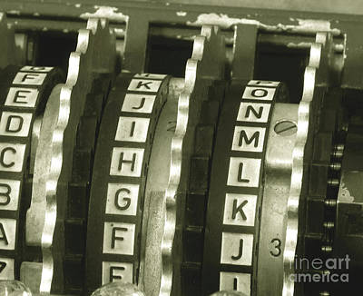 Machinery Photograph - Enigma Cipher Machine by English School