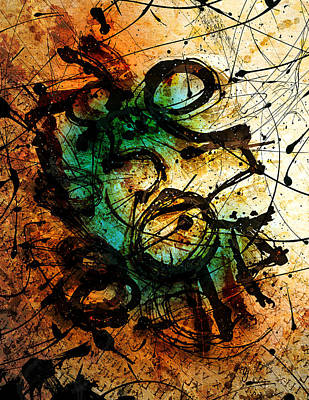 Colorful Abstract Digital Art - Enigma  by Gary Bodnar