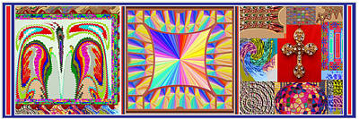 Enjoy N Share The Joy 3in1 Graphic Popular Fineart Horizontal Collage Art Print
