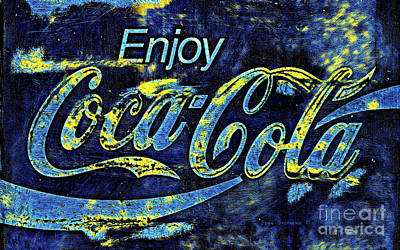 Old Coke Sign Wall Art - Photograph - Enjoy Starry Night Coca Cola by John Stephens