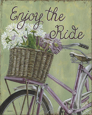 Bicycling Painting - Enjoy The Ride by Debbie DeWitt