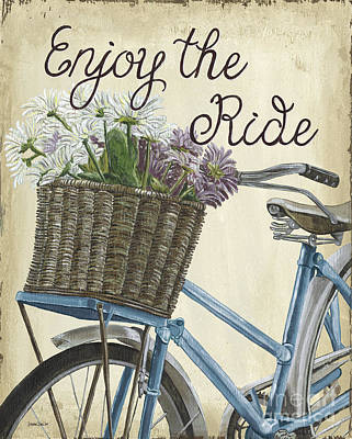 Tire Painting - Enjoy The Ride Vintage by Debbie DeWitt