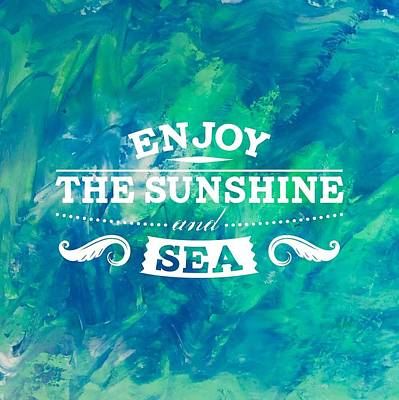 Painting - Enjoy The Sunshine And Sea by Monica Martin