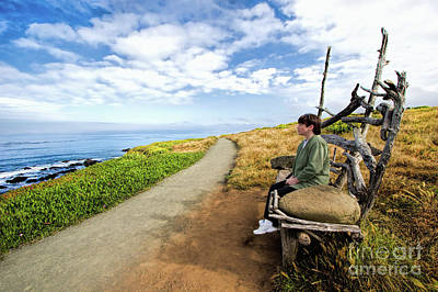 Cambria Photograph - Enjoy The View - California Coast by Dan Carmichael