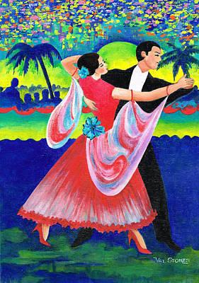 Dancefloor Painting - Enjoyable Waltz by Val Stokes
