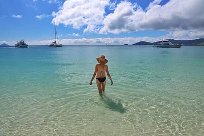 Photograph - Enjoying A Swim At Whitehaven Beach In The Whitsundays by Keiran Lusk