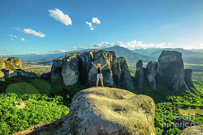 Photograph - Enjoying At Meteora Hinking by Benny Marty