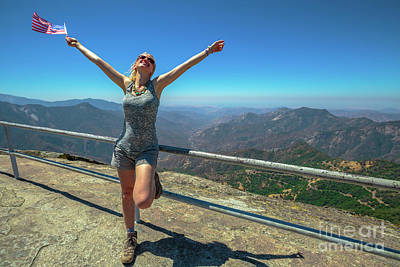 Photograph - Enjoying At Sequoia National Park by Benny Marty