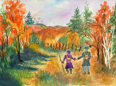 Painting - Enjoying Autumn by Ellen Levinson