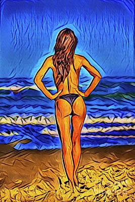 Photograph - Enjoying The Beach 20918 by Ray Shrewsberry