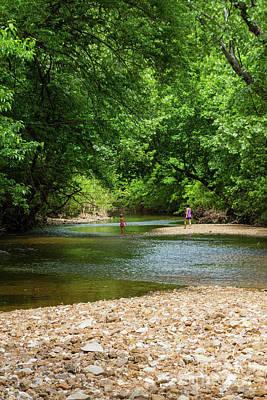 Photograph - Enjoying The Creek by Jennifer White