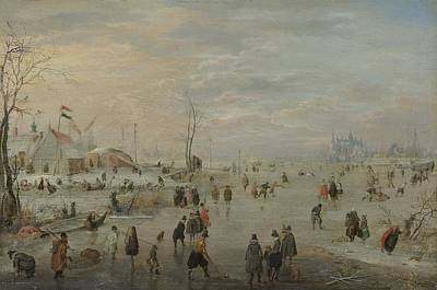 Enjoying The Ice, 1615 Art Print