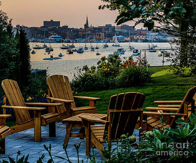 Southern Maine Photograph - Enjoying The Portland View by Joe Faragalli