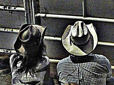Photograph - Enjoying The Rodeo Grungy by Al Bourassa