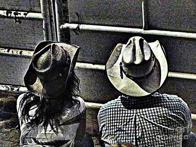 Photograph - Enjoying The Rodeo Grungy by Al Bourassa
