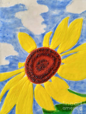 Hot Wax Painting - Enjoying The Sun#1 by Crystal Hover