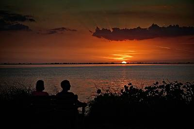 Photograph - Enjoying The Sunset by Ronald Lutz