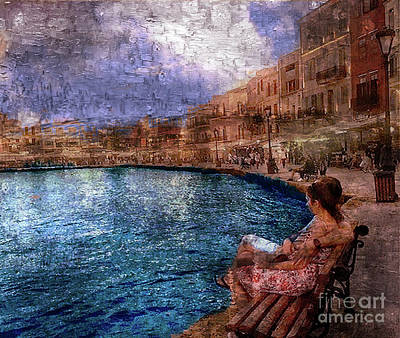Digital Art - Enjoying The View On The Beach At Nice, France. by Rod Jellison