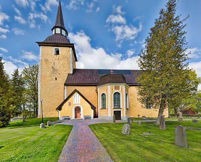 Photograph - Enkopingsnas Church May by Leif Sohlman