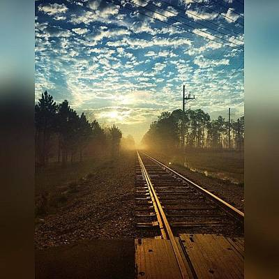 Track Photograph - #enlight #stackables #morningbeauty by Joan McCool