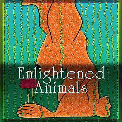 Digital Art - Enlightened Animals by Becky Titus