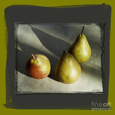 Photograph - Enlightened Pears by Sueann Hack