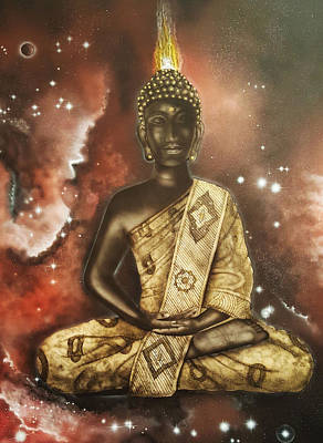 Buddah Painting - Enlightenment by Reshef Shabazz