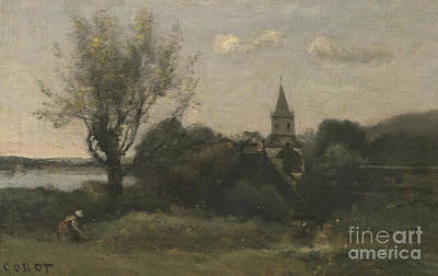 Open-air Painting - Ennery Near Auvers by Jean Baptiste Camille Corot
