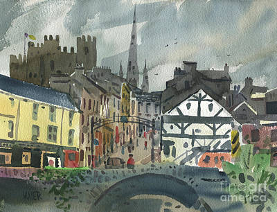 Painting - Enniscorthy On The Slaney by Donald Maier