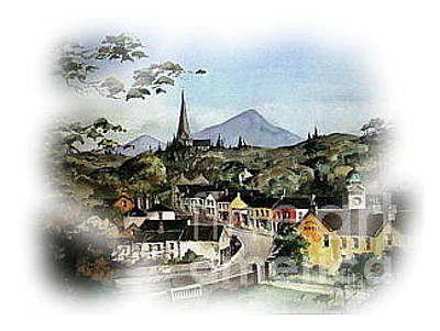 Painting - Enniskerry Panorama by Val Byrne