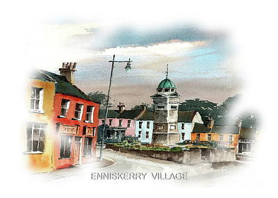 Painting - Enniskerry Village by Val Byrne
