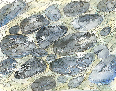Contemplative Painting - Eno River 13 by Katie Ree