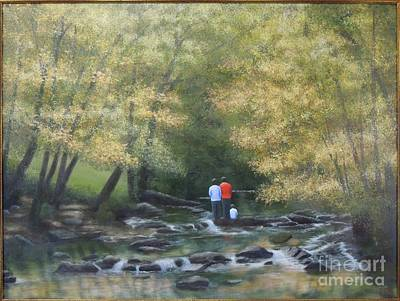 Painting - Eno River Afternoon by Phyllis Andrews