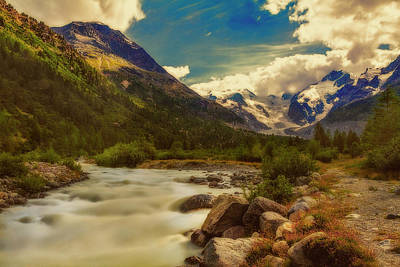 Photograph - Eno Stream At Morteratsch Glacier by Roberto Pagani