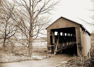 Photograph - Enochsburg Indiana Covered Bridge by Gary Wonning