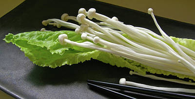 Photograph - Enoki Mushrooms by James Temple