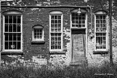 Print featuring the photograph Enough Windows - Bw by Christopher Holmes