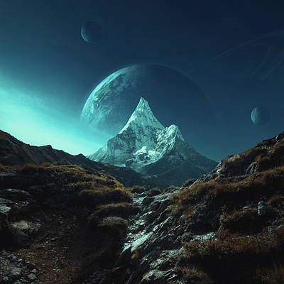 Planet Digital Art - Enroute To Delta Pavonis by Michal Karcz